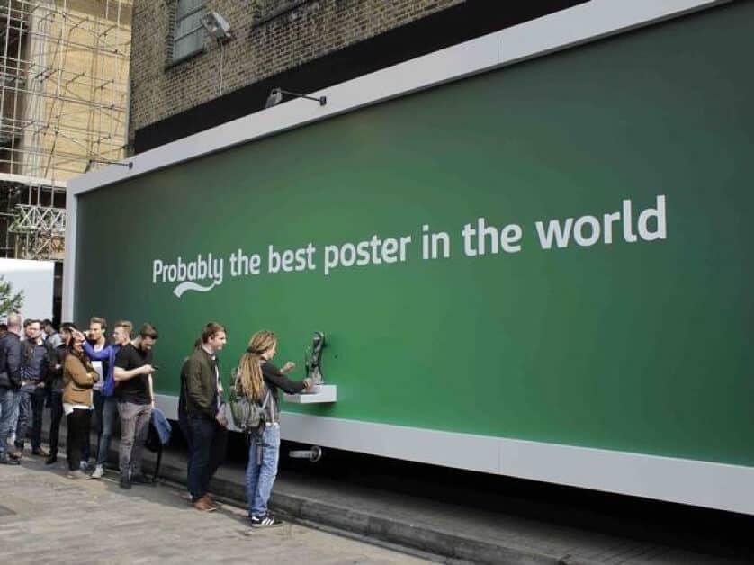 Carlsberg drinkable billboard