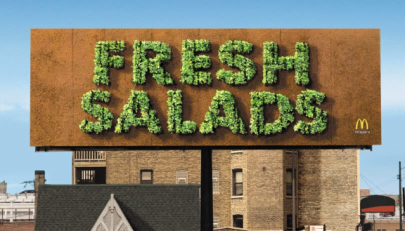 McDonalds salads billboard