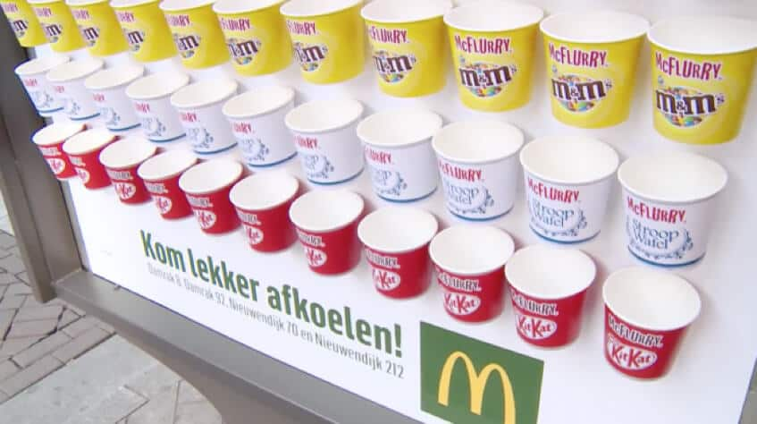 McDonald's McFlurry billboard