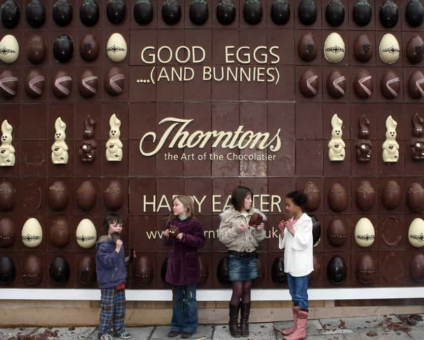 Thorntons edible billboard