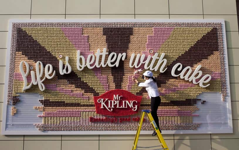 Kipling ediable billboard