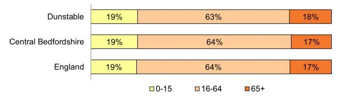 Dunstable Age Demographics