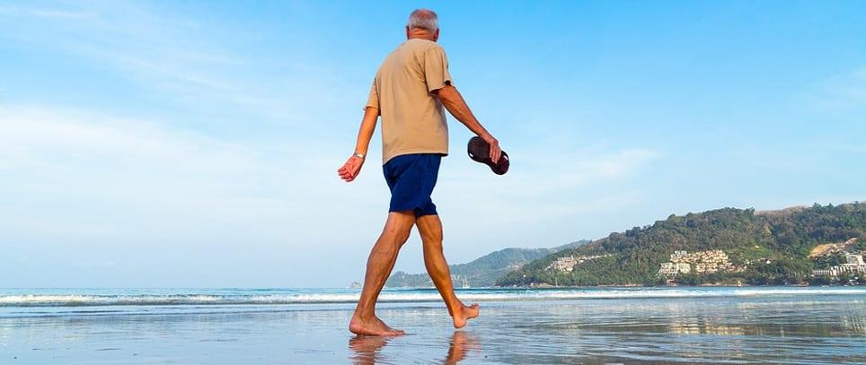 Retired living at the seaside