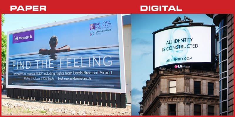 Paper vs Digital Billboards