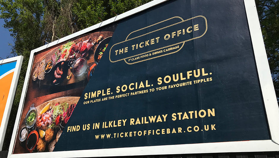 Food billboard Ilkley