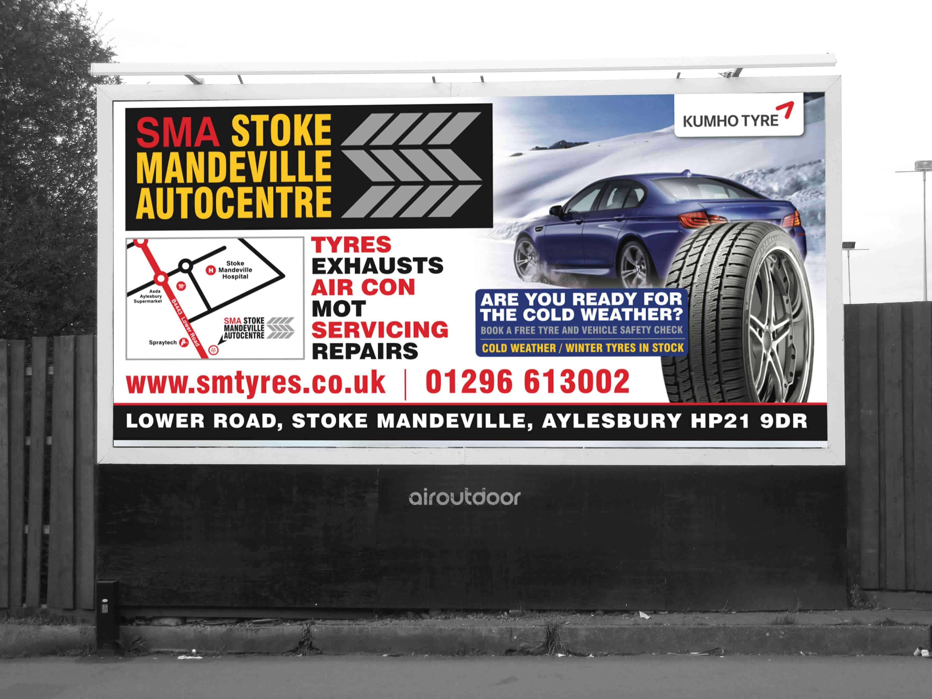 Stoke Mandeville Auto Centre Billboard Motor Billboard