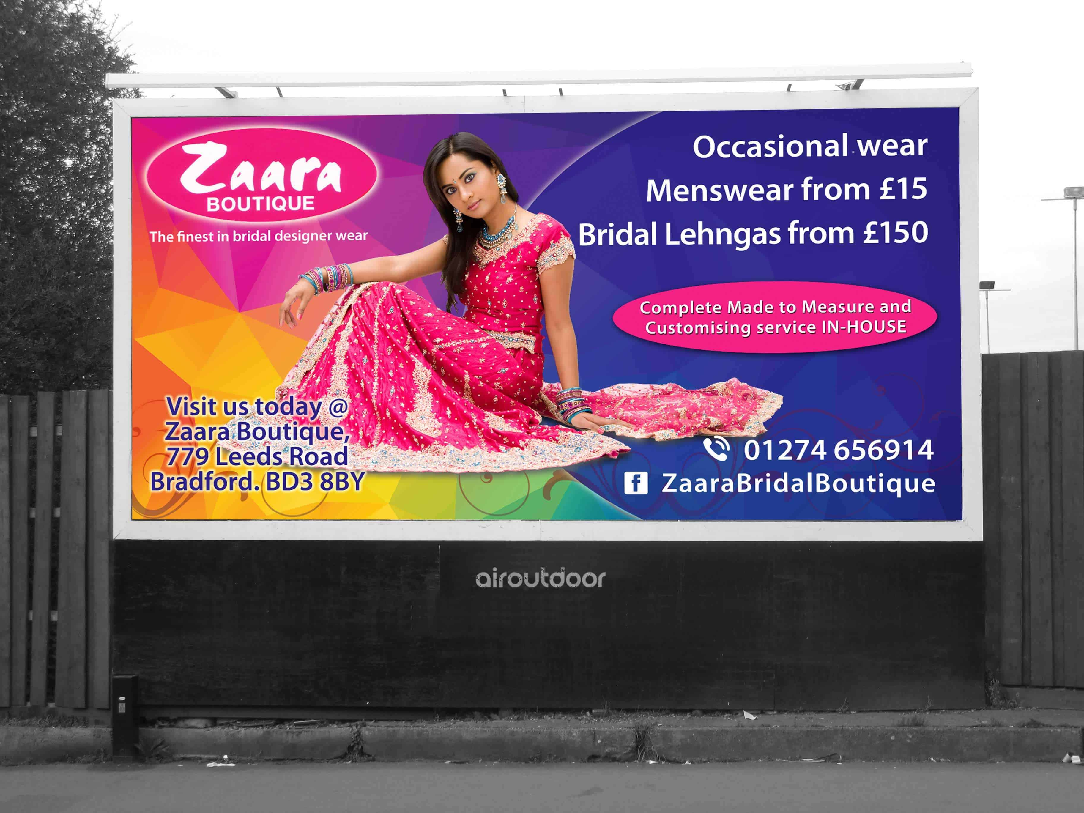 Zaara Boutique Billboard Retail Billboard