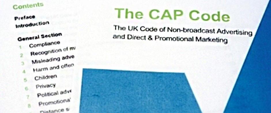 Cap code for advertising