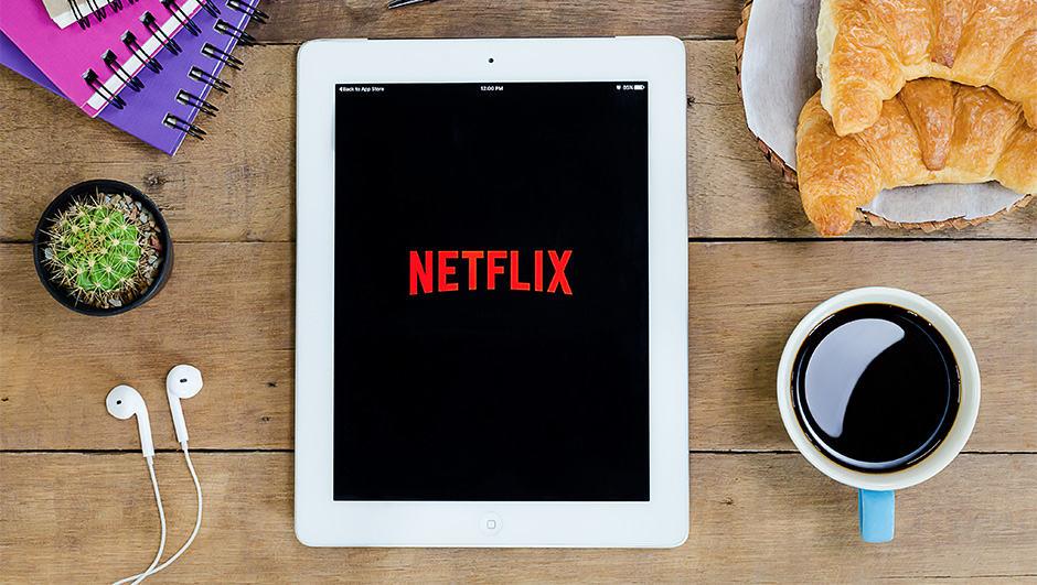 Netflix Logo on iPad
