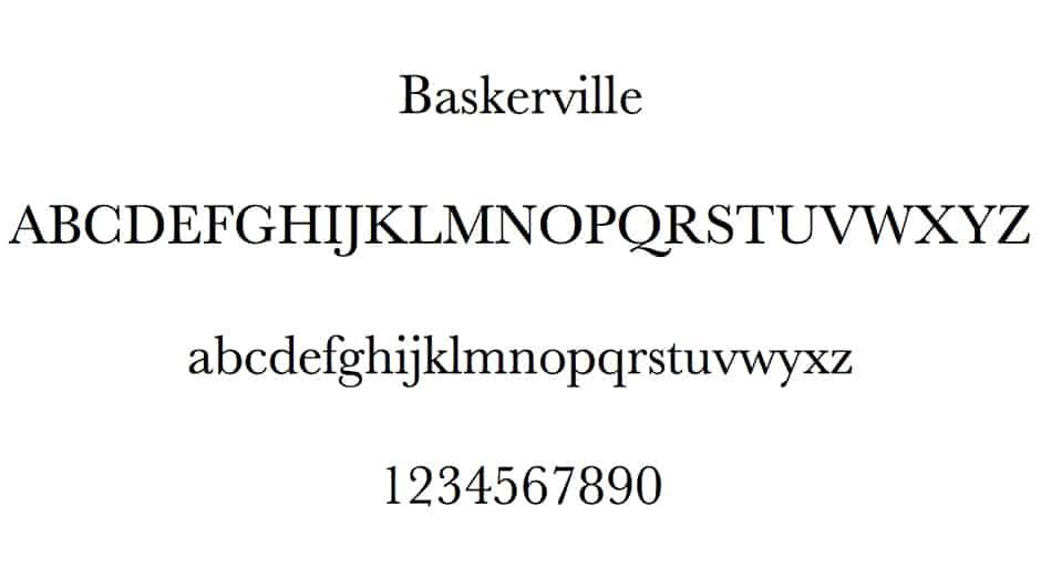 Baskerville Fontface
