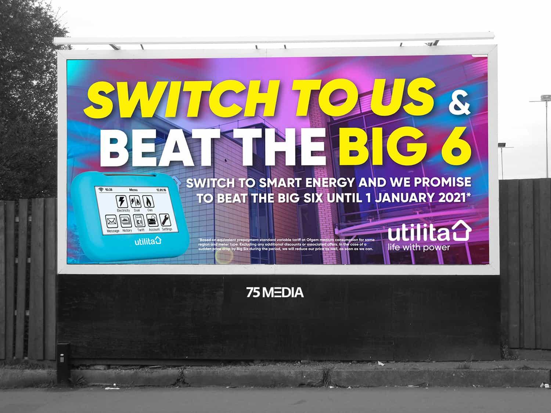 billboard with hashtag