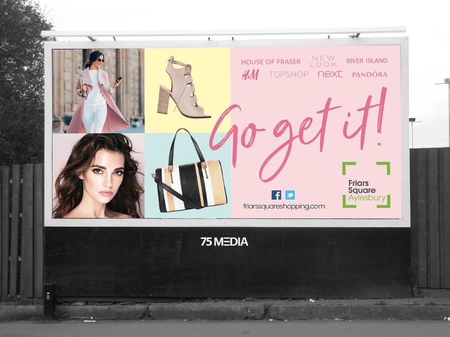 Fashion retail billboard in Aylesbury