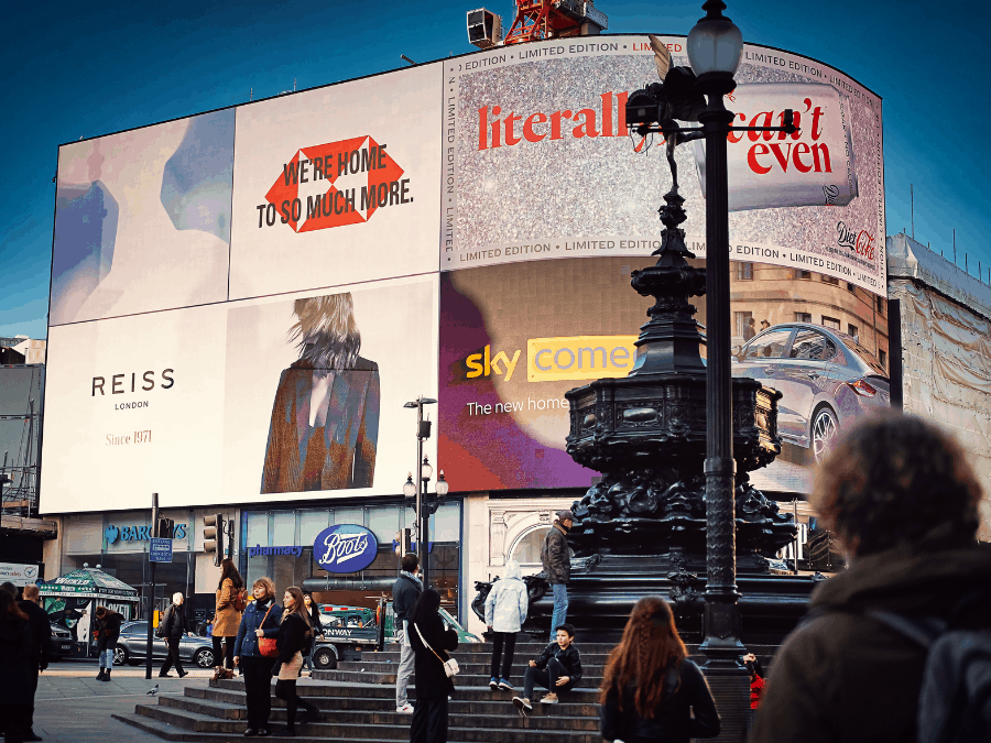 Digital out of home advertising in London