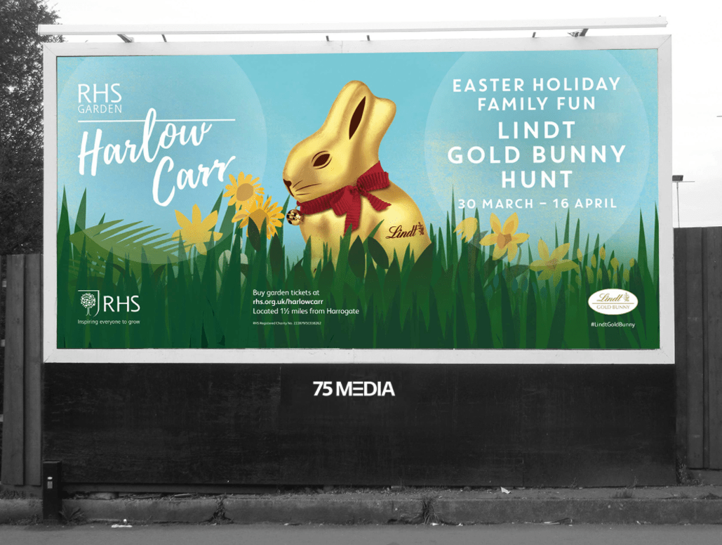 Outdoor advertising for RHS Harlow Carr - 75Media