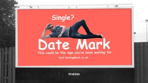 Date Mark billboard in Manchester
