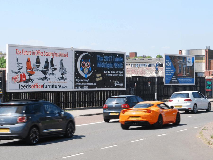 Roadside outdoor advertising space in Leeds